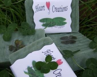 IRELAND JADE CLOVER Handmade Soap Bar