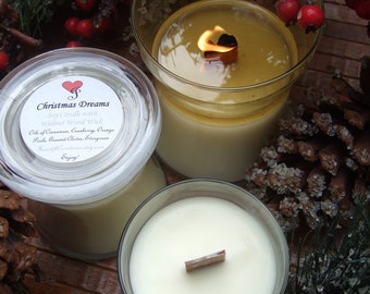 CHRISTMAS DREAMS Soy Candle English Walnut Wick