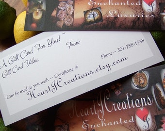 Gift Certificate You Name the Amount You Wish to Give