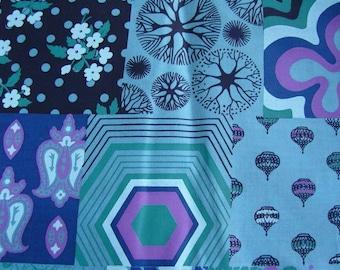Half yard- Hand Screen Printed Fabric - PERFECT PATCHWORK