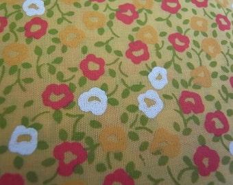 Half Yard - Yellow Flower Garden - Hand-printed cotton fabric
