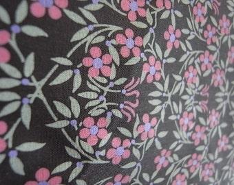 Mystery Garden - hand printed cotton fabric - Half Yard