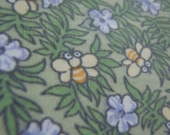 1 Yard - Japanese Fabric - Bumble Bee Garden - Last piece