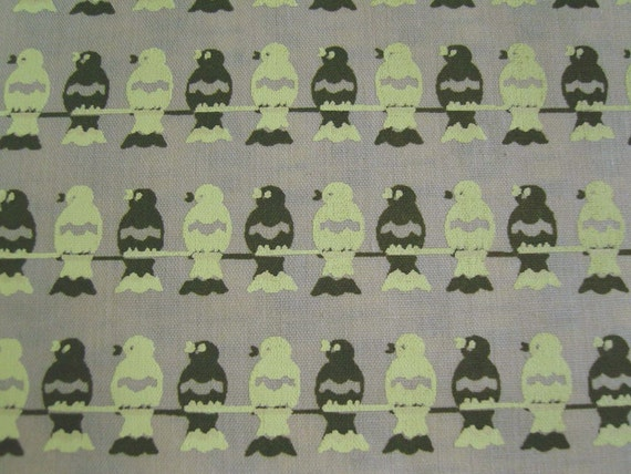 Birds On a Wire limited edition hand printed fabric