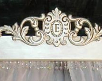 Bed Crown custom  with space for an initial