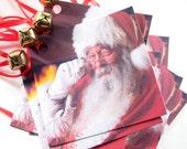10 Santa Jingle Bell Christmas Tags