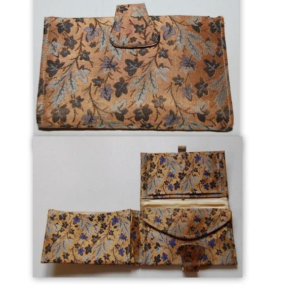 Vintage French Duizend Gans Silk Wallet Unused Paris