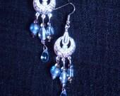 Beautiful Light Blue Chandelier Earrings