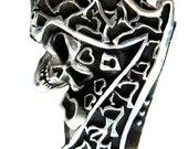 Luck Sevens Custom Skull Two Finger Ring