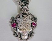 Frida  Pendant memento mori Diego Rivera Skull RXVrings N054