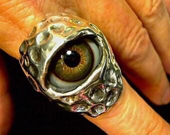 Ancient Eye of God Custom Ring wiccan king biker Hazel R081
