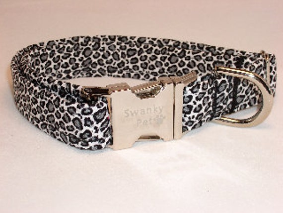 Snow Leopard Print Dog Collar From Swanky Pet