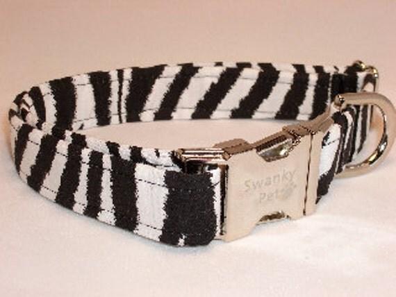 Zebra Stripe Dog Collar by Swanky Pet