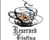 Biscuit. Framed Cross Stitch RESERVED