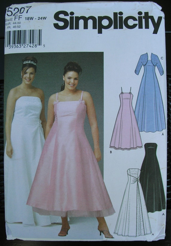 Simplicity Plus Size Formal Dress Pattern 5207 By