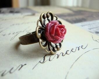 My Mini Scarlet Rose Cabochon Ring