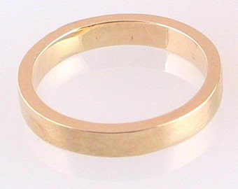 10k Yellow Gold Ring 3mm, size 5 ready to ship