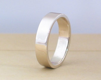 14k White Gold Ring 4mm, size 3- 13