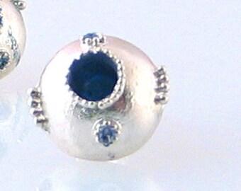 Granulation Earrings Blue Posts