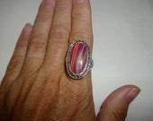 Clearance Big and Bold Rainbow Jasper Ring