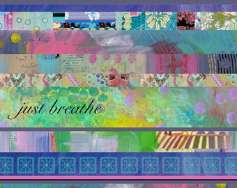 Just Breathe Collage, Art Print