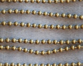 Vintage Raw Brass 3 mm Ball Necklace Chain