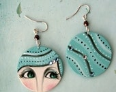 Lucia hand painted earrings