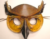 Great Horned Owl Leather Mask  - Halloween is Coming get your Costume ready