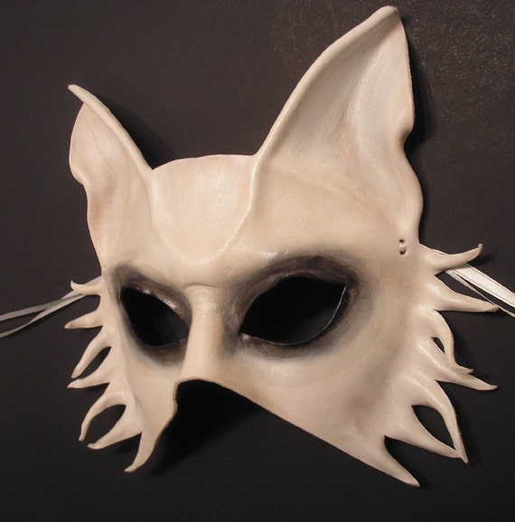Ghost Dog Leather Mask dog wolf fox spooky READY TO SHIP