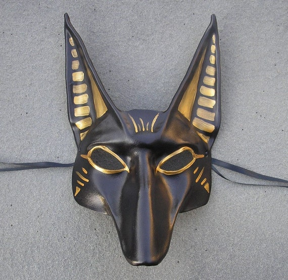 Egyptian God Anubis Leather Mask by teonova on Etsy