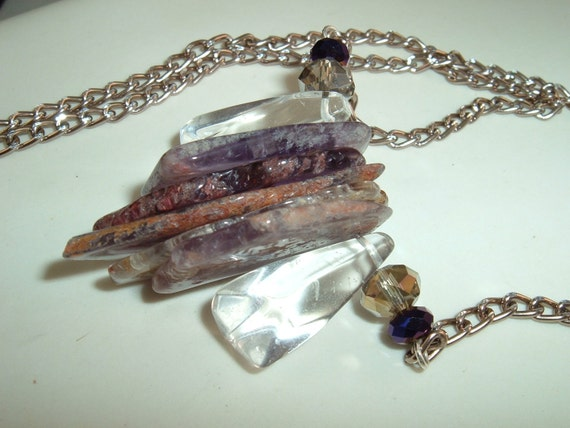 Slab Amethyst, Crystal Necklace