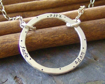Eternally Mine... hand stamped sterling necklace