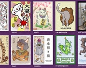 Mix and Meow - Any 5 Art Postcards