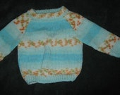 hand knit baby fair isle sweater 6-12 months