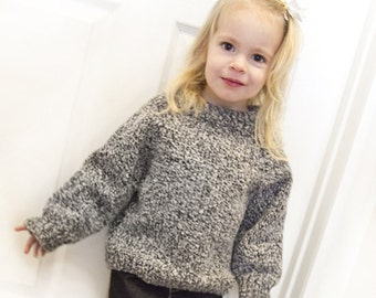 knit tweedy toddler sweater size 1 - 3