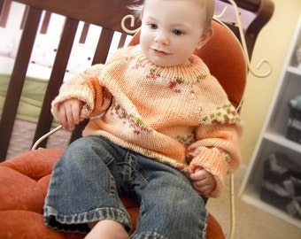knit sweater fair isle and stripes  - size 6 - 12 months