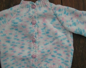 knit baby sweater- 0-6 months