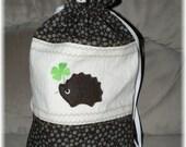 Little Sock Knitting Bag Hedgehogs embroidery design