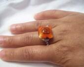 Orange Swirl Ring