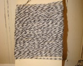 Black and White Bakers Twine - 20 Yards