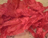6 Yards Hand Scrunched Seam Binding - Hot Pink