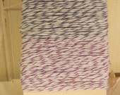 Grey and Purple Bakers Twine - 20 Yards