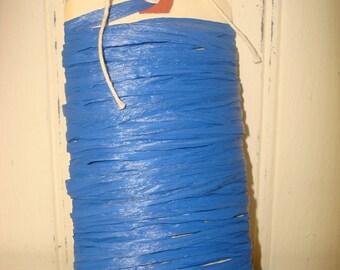 Royal Blue Raffia Ribbon - Matte - 10 Yards