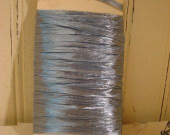 Williamsberg Blue Raffia Ribbon - Pearlized  - 10 Yards