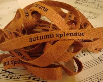 Autumn Splendor - Cotton Twill Ribbon - 3 Yards