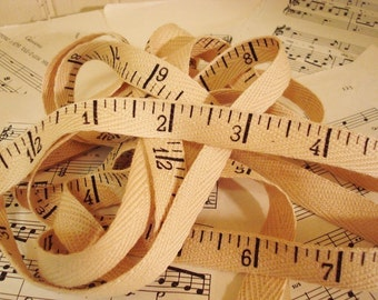 Antique Ruler  - Cotton Twill Ribbon - 3 Yards