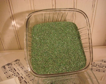 Sea Green Vintage Style German Glass Glitter - 2 OZ - Medium Grade