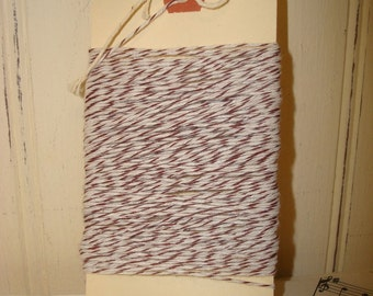 Brown and White Bakers Twine - 20 Yards