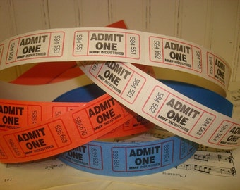 60 Admit One Tickets