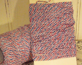 Red  White and Blue  Baker's Twine - 20 Yards